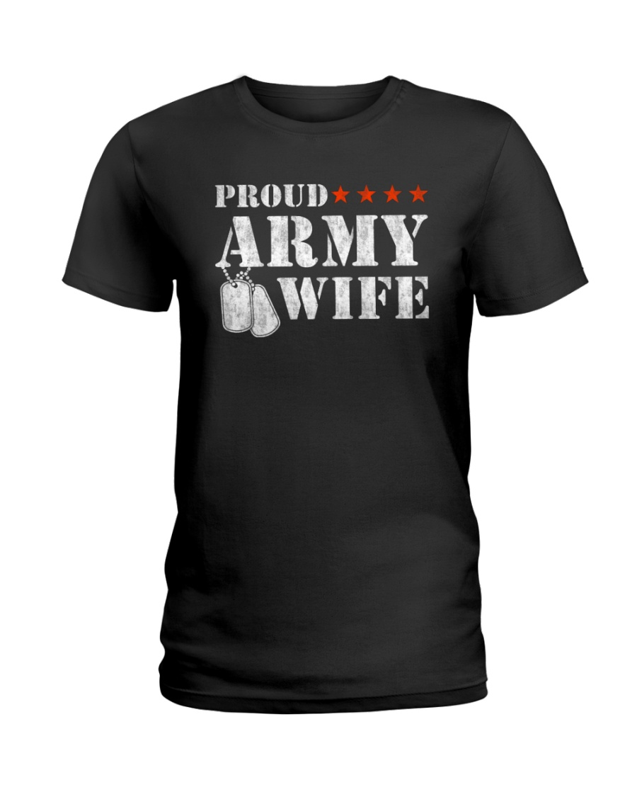 Proud army wife Ladies T-Shirt
