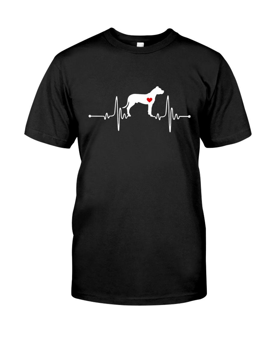 Dogo Argentino Mastiff heartbeat Classic T-Shirt
