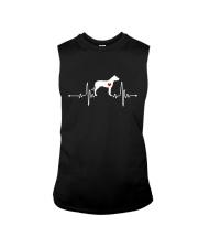 Dogo Argentino Mastiff heartbeat Sleeveless Tee thumbnail