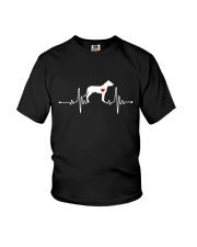 Dogo Argentino Mastiff heartbeat Youth T-Shirt thumbnail
