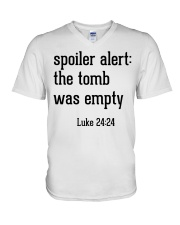 Spoiler Alert The Tomb Was Empty V-Neck T-Shirt thumbnail