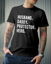 Husband Daddy Protector Hero Classic T-Shirt lifestyle-mens-crewneck-front-6