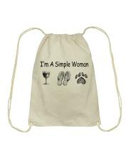 I'm a simple Woman Drawstring Bag thumbnail