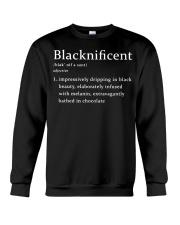 Template Black Woman Black Crewneck Sweatshirt thumbnail