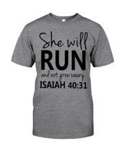She Will Run And Not Grow Weary Classic T-Shirt thumbnail