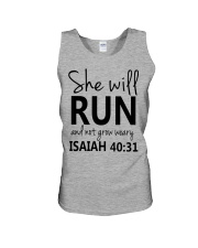 She Will Run And Not Grow Weary Unisex Tank thumbnail