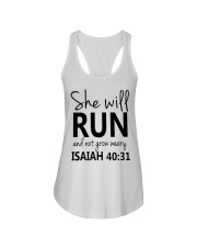 She Will Run And Not Grow Weary Ladies Flowy Tank thumbnail