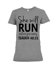 She Will Run And Not Grow Weary Premium Fit Ladies Tee thumbnail