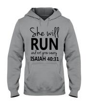 She Will Run And Not Grow Weary Hooded Sweatshirt thumbnail