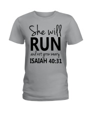 She Will Run And Not Grow Weary Ladies T-Shirt front