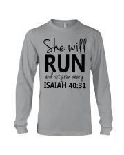 She Will Run And Not Grow Weary Long Sleeve Tee thumbnail