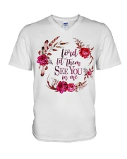 Lord let them see you in me V-Neck T-Shirt thumbnail