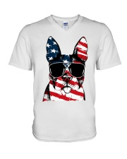 4th July V-Neck T-Shirt thumbnail