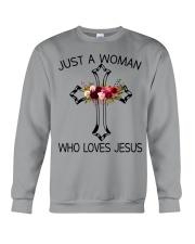 Just A Woman Who Loves Jesus Crewneck Sweatshirt thumbnail