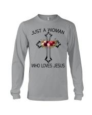 Just A Woman Who Loves Jesus Long Sleeve Tee thumbnail