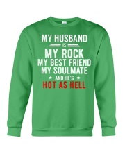 My Husband is Hot as Hell Crewneck Sweatshirt thumbnail