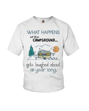 What happens at the Campground Youth T-Shirt thumbnail