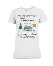 What happens at the Campground Premium Fit Ladies Tee thumbnail