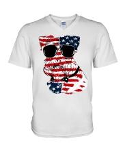 4th July V-Neck T-Shirt thumbnail