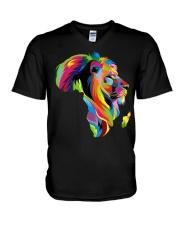 Black Lion V-Neck T-Shirt thumbnail