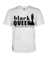 Black Queen The Most Powerful Piece V-Neck T-Shirt thumbnail
