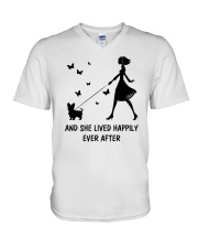 And She Lived Happily Ever After V-Neck T-Shirt thumbnail