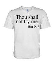 Thou Shall Not Try Me V-Neck T-Shirt thumbnail