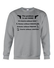 The problem is not GUNS Crewneck Sweatshirt thumbnail