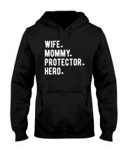 Wife Mommy Protector Hero Hooded Sweatshirt thumbnail
