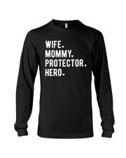 Wife Mommy Protector Hero Long Sleeve Tee thumbnail