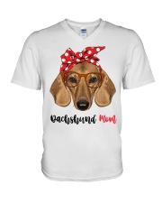 Dachshund Mom V-Neck T-Shirt thumbnail