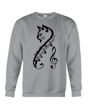 Cat Music Crewneck Sweatshirt thumbnail