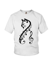 Cat Music Youth T-Shirt thumbnail