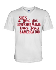 She's a good girl V-Neck T-Shirt thumbnail