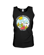 Animals Are Friends - Best shirts for vegans Unisex Tank thumbnail