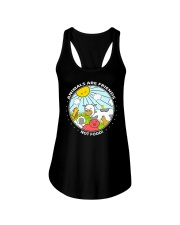 Animals Are Friends - Best shirts for vegans Ladies Flowy Tank thumbnail
