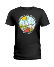 Animals Are Friends - Best shirts for vegans Ladies T-Shirt front