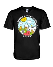 Animals Are Friends - Best shirts for vegans V-Neck T-Shirt thumbnail
