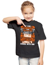 IF YOU MESS WITH ME MY FUNCLE IS COMING AFTER YOU Youth T-Shirt lifestyle-youth-tshirt-front-2