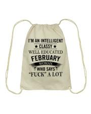 I'M AN INTELLIGENT FEBRUARY WOMAN Drawstring Bag thumbnail