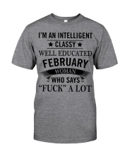 I'M AN INTELLIGENT FEBRUARY WOMAN Classic T-Shirt thumbnail