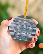 BELIEVE IN YOURSELF  - LOVELY GIFT FOR DAUGHTER Circle ornament - single (porcelain) aos-circle-ornament-single-porcelain-lifestyles-09