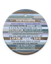 BELIEVE IN YOURSELF  - LOVELY GIFT FOR DAUGHTER Circle ornament - single (porcelain) front