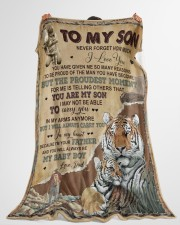 """MY BABY BOY - LOVELY GIFT FOR SON Large Fleece Blanket - 60"""" x 80"""" aos-coral-fleece-blanket-60x80-lifestyle-front-10"""