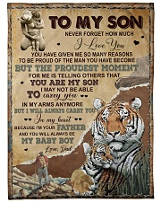 """MY BABY BOY - LOVELY GIFT FOR SON Large Fleece Blanket - 60"""" x 80"""" front"""