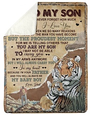 """MY BABY BOY - LOVELY GIFT FOR SON Large Sherpa Fleece Blanket - 60"""" x 80"""" thumbnail"""