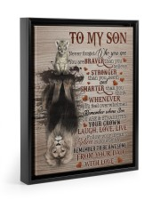 NEVER FORGET WHO YOU ARE - BEST GIFT FOR SON 11x14 Black Floating Framed Canvas Prints thumbnail