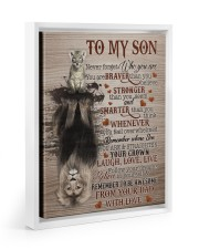 NEVER FORGET WHO YOU ARE - BEST GIFT FOR SON 11x14 White Floating Framed Canvas Prints thumbnail