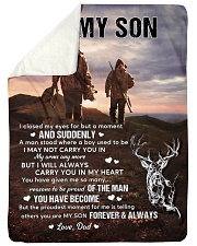 """CARRY YOU IN MY HEART - LOVELY GIFT FOR SON Large Sherpa Fleece Blanket - 60"""" x 80"""" thumbnail"""