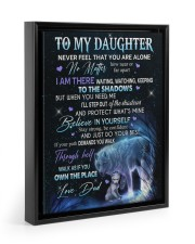 NEVER FELL THAT YOU ARE ALONE 11x14 Black Floating Framed Canvas Prints thumbnail